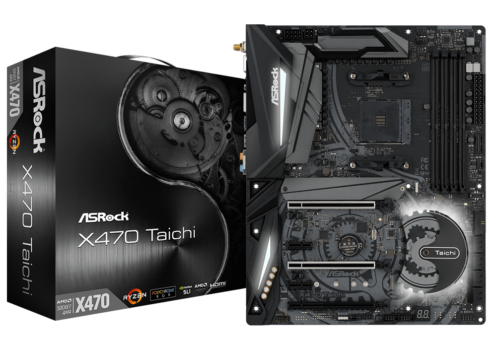 Main Asrock X470 Taichi (Chipset AMD X470/ Socket AM4/ VGA onboard)