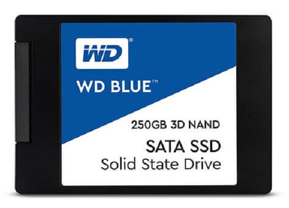 Ổ SSD Western Blue 250GB 3DNAND SATA3 (đọc: 550MB/s /ghi: 525MB/s)