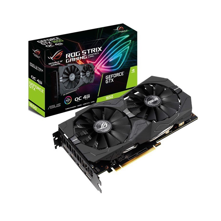 Card màn hình ASUS ROG STRIX GTX 1650-4G GAMING (4GB GDDR5, 128-bit, HDMI+DP)