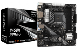 Main Asrock B450M Pro4-F (Chipset AMD B450/ Socket AM4/ VGA onboard)