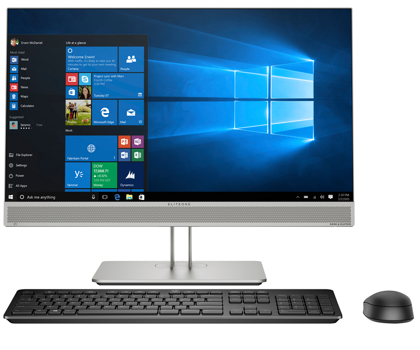 Máy tính All in one Hp EliteOne 800G5 AIO/ i7-9700-3.0G/ 8GB/ 1TB/ WL+BT/ DVDRW/ 23.8''FHD-Touch+IPS/ 4Vr/ Silver/ W10 (8JW21PA)